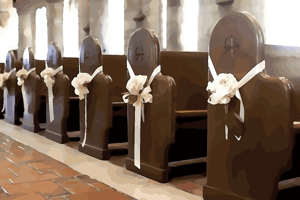 designing church pews for weddings