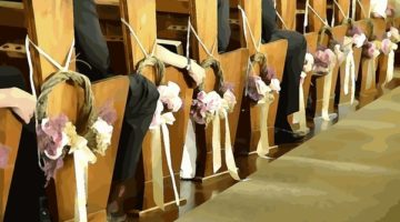 pews for wedding ceremony