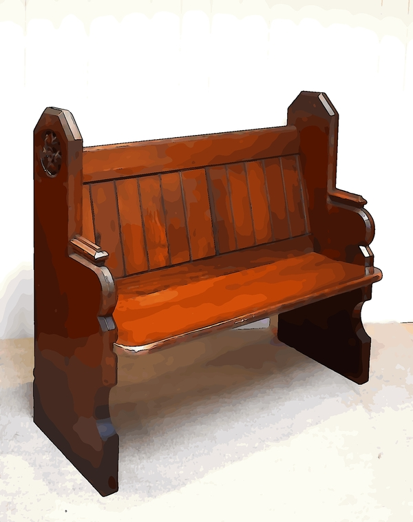 pitch pine church pew