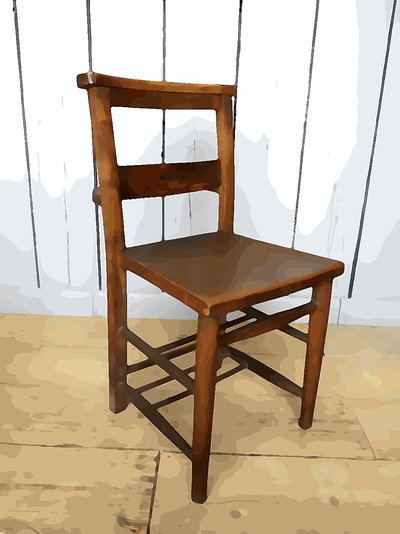 pictures of used church chairs